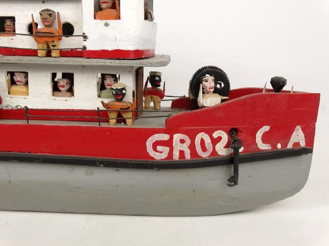 Folk Art Boat - 10