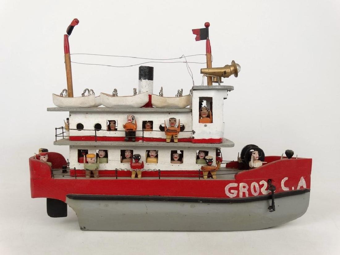 Folk Art Boat - 8