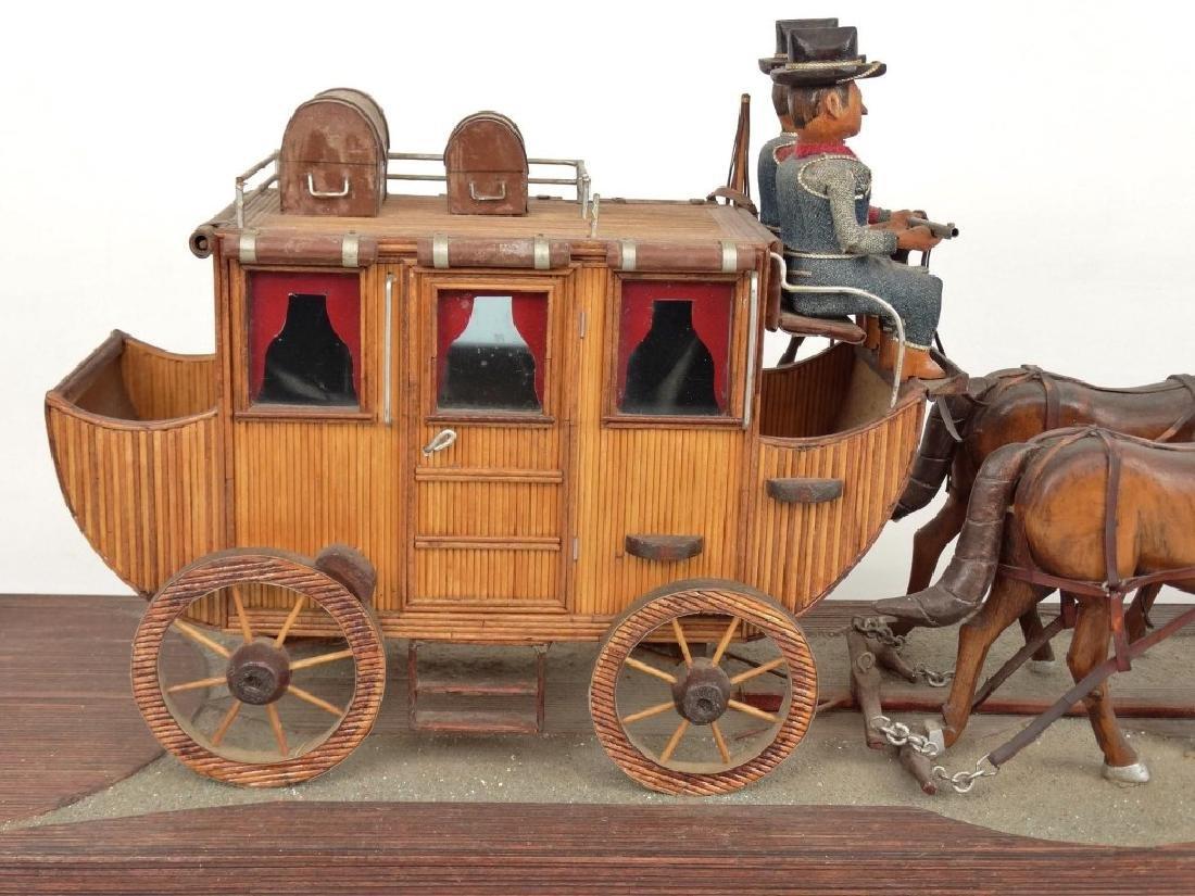 Folk Art Carriage & Horse Sculpture - 6