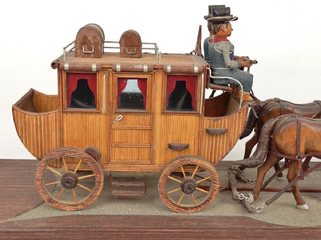 Folk Art Carriage & Horse Sculpture - 6