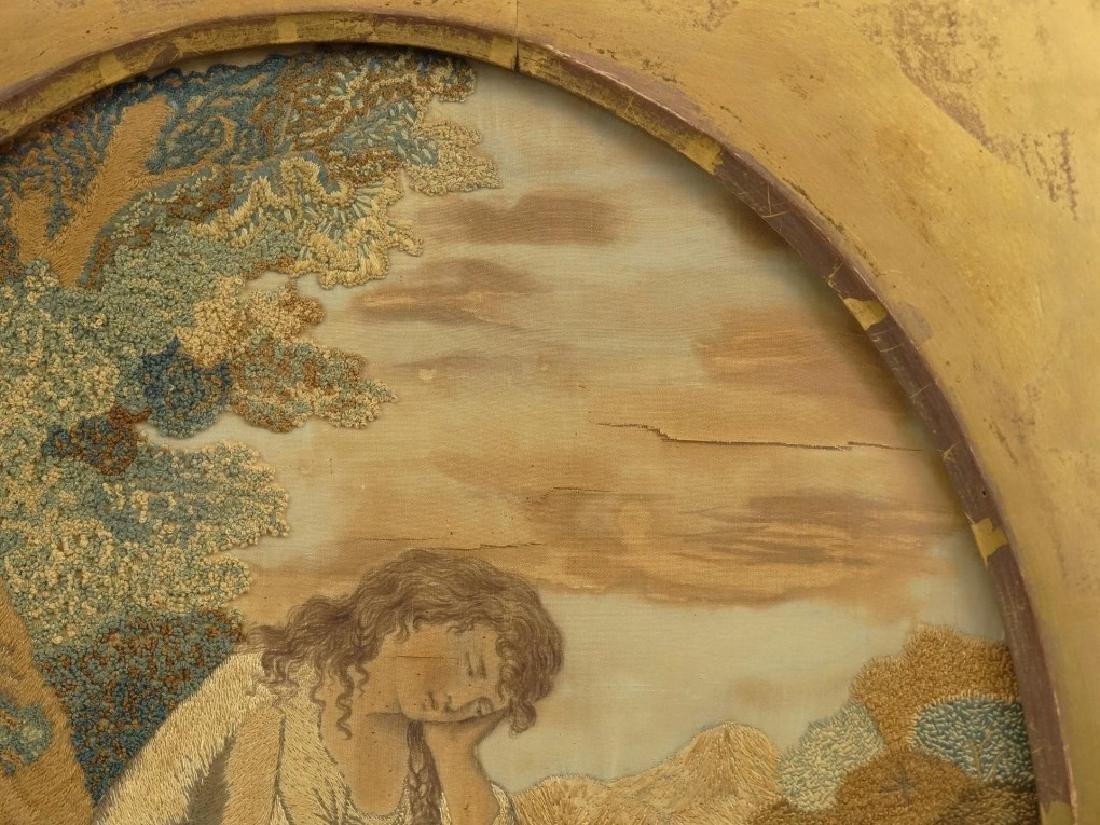 19th c. Silk Needlework - 4