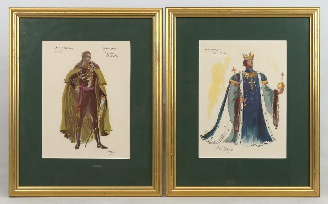 Pair Of Actor Watercolors