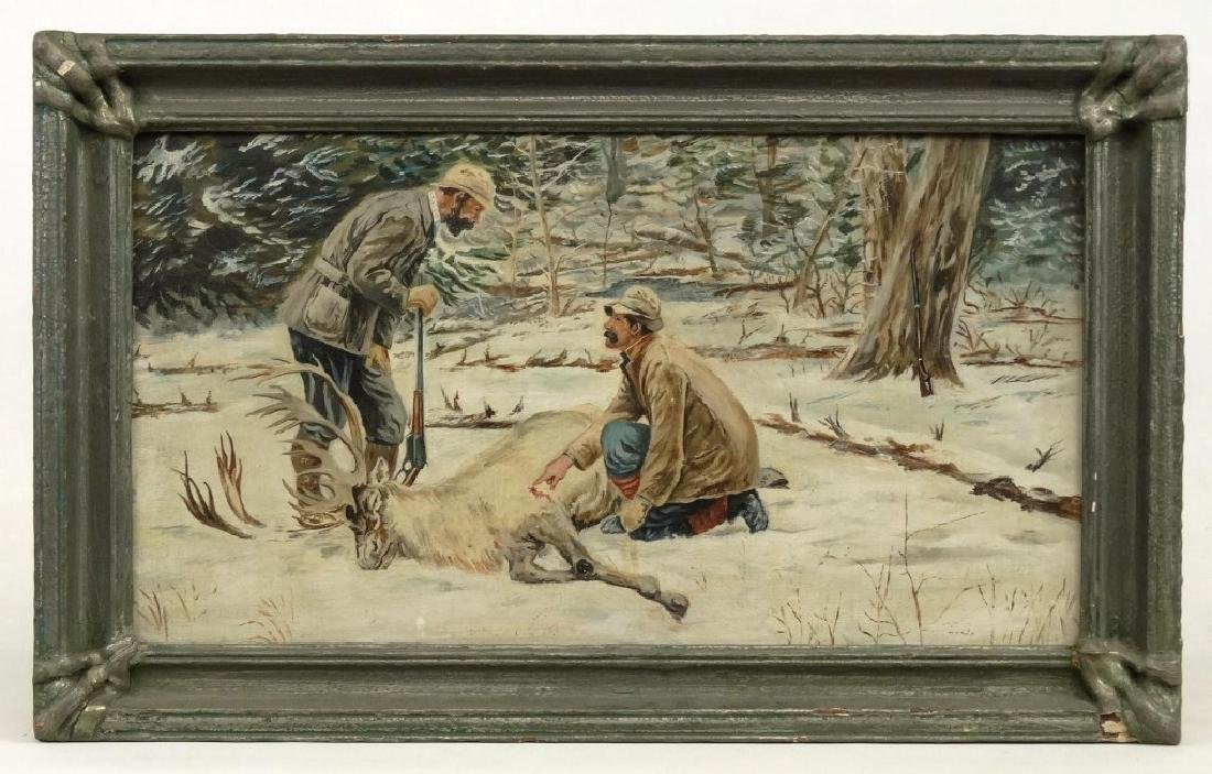 """E. B."", Winter Hunting Scene"