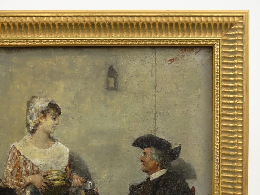 Del Buono, Interior Scene With Pilgrims - 2