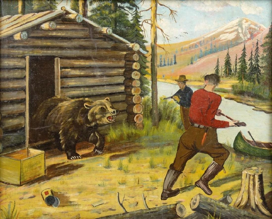 Wurstner, Bear Hunting Scene - 2
