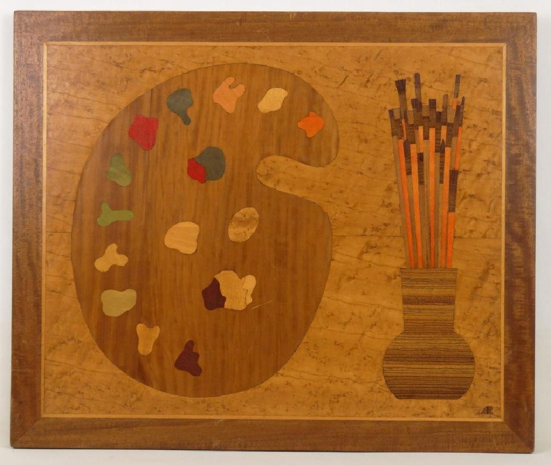 Inlaid Board With Artists Palette