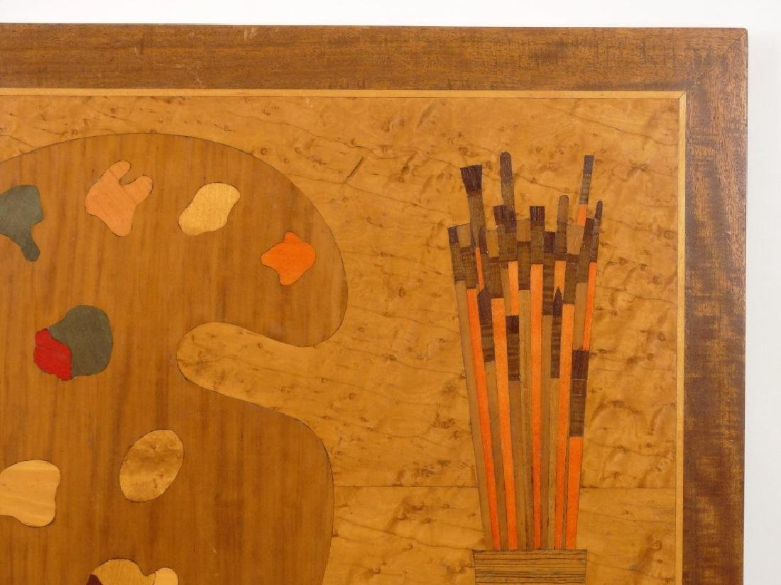 Inlaid Board With Artists Palette - 2