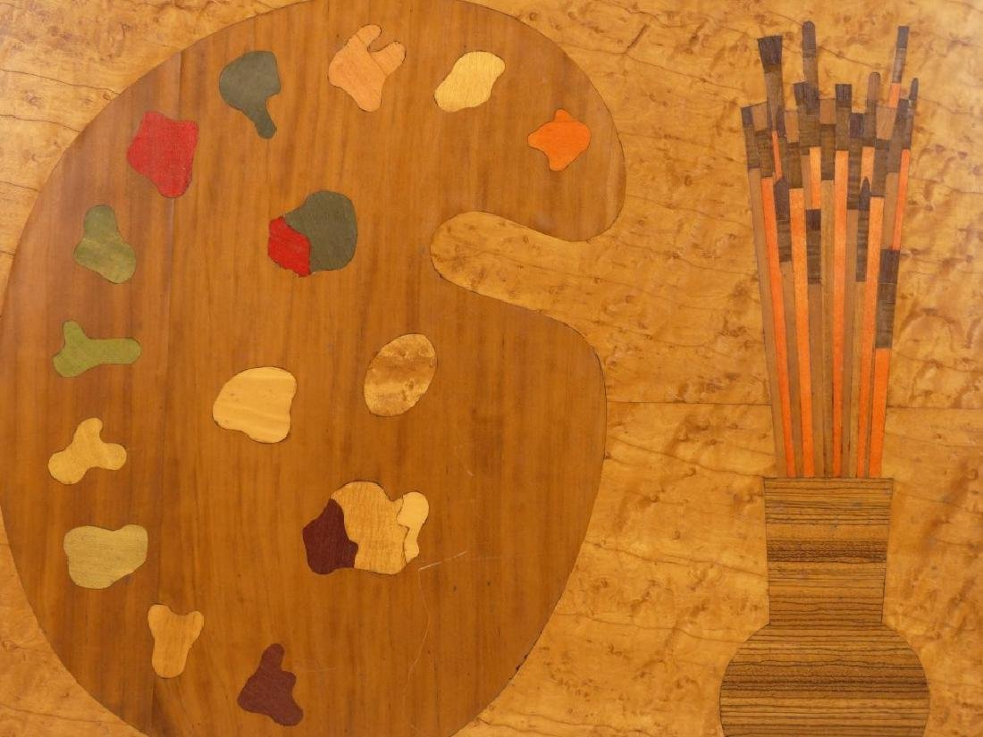Inlaid Board With Artists Palette - 3