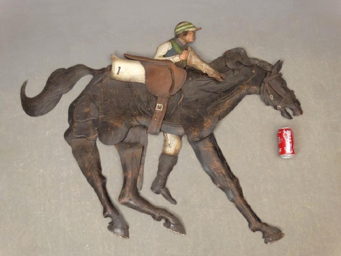 Leather Horse Plaque