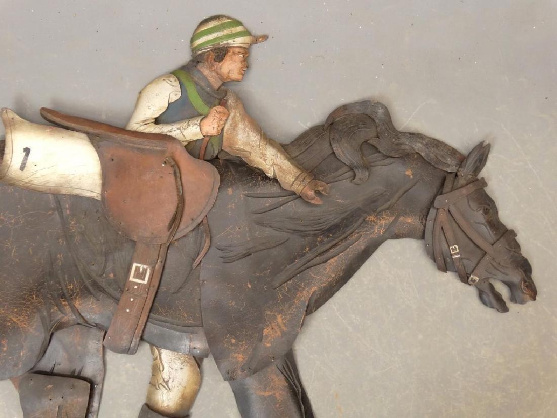 Leather Horse Plaque - 2