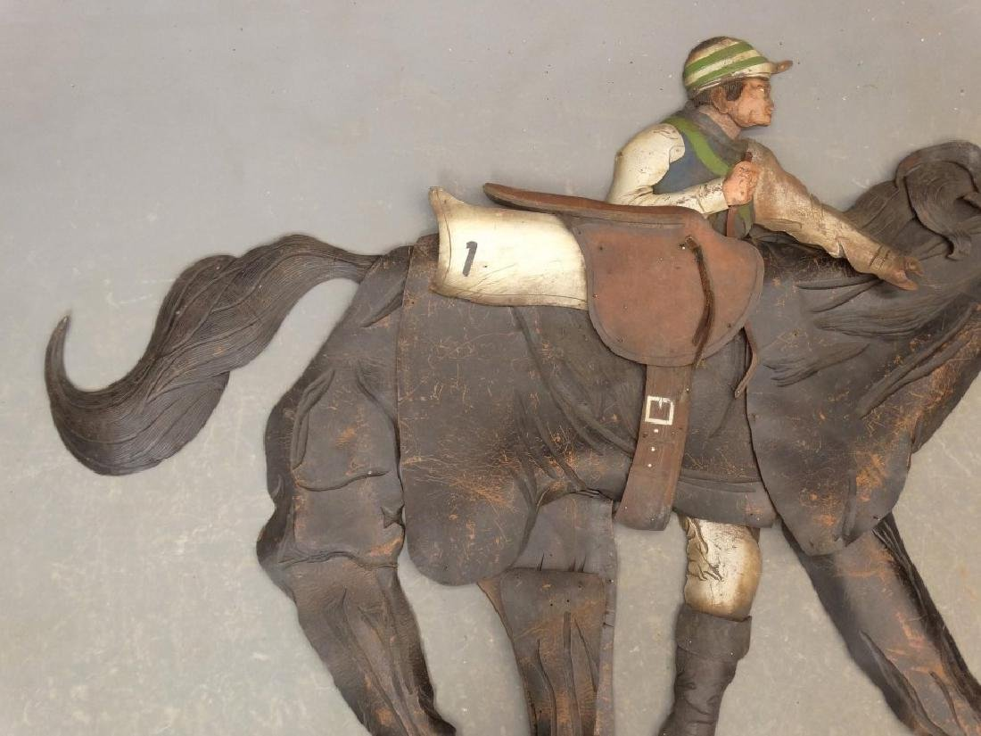 Leather Horse Plaque - 3