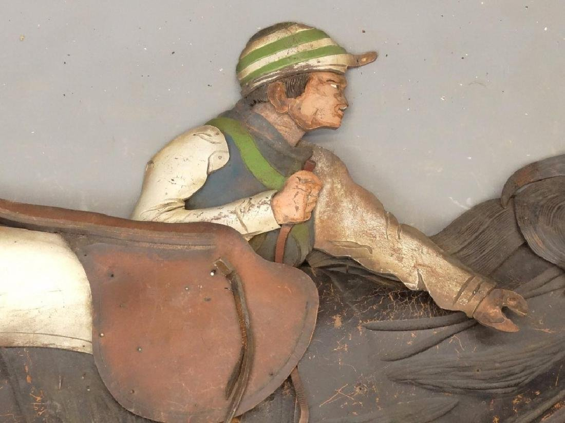 Leather Horse Plaque - 4