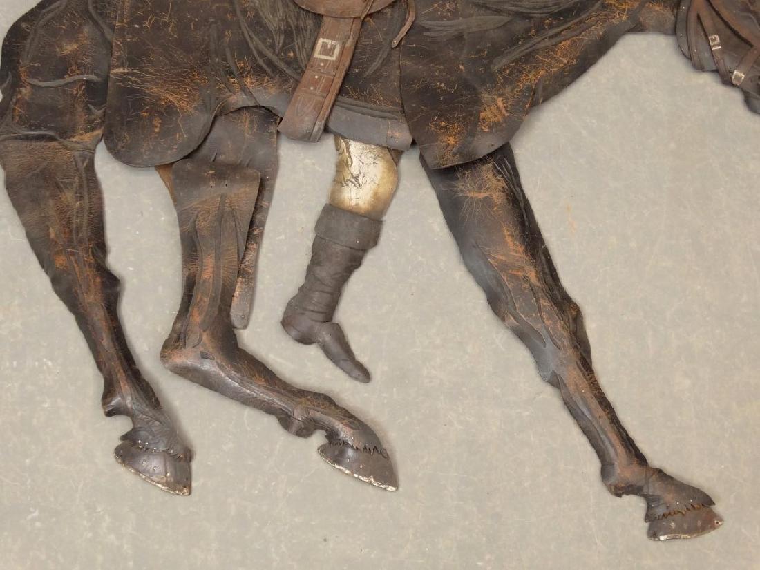 Leather Horse Plaque - 5