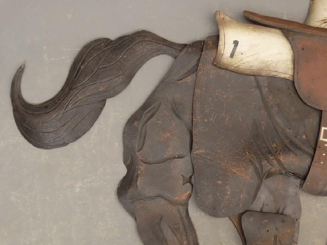 Leather Horse Plaque - 6