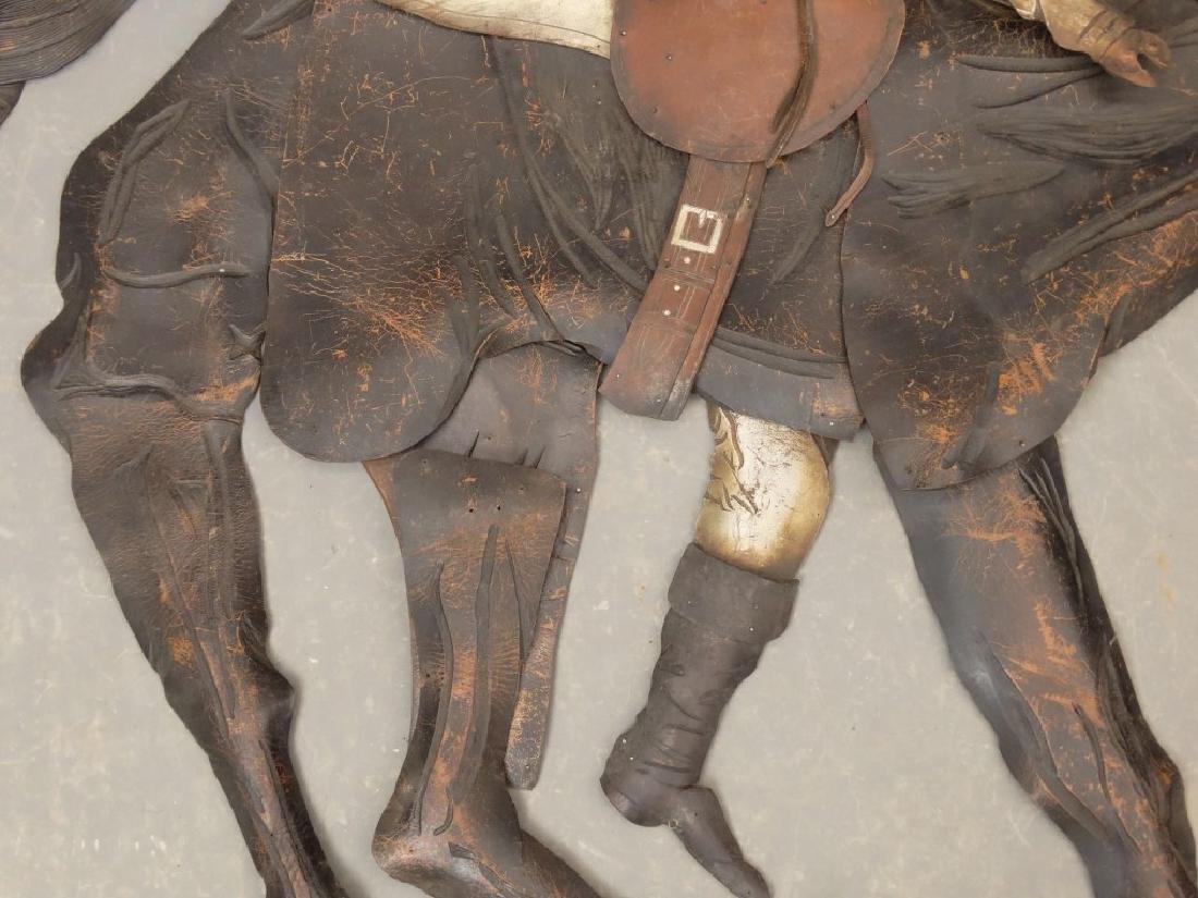 Leather Horse Plaque - 7