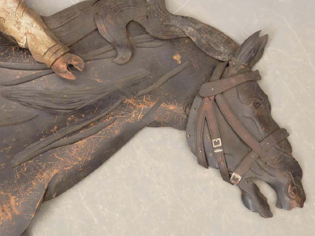 Leather Horse Plaque - 8