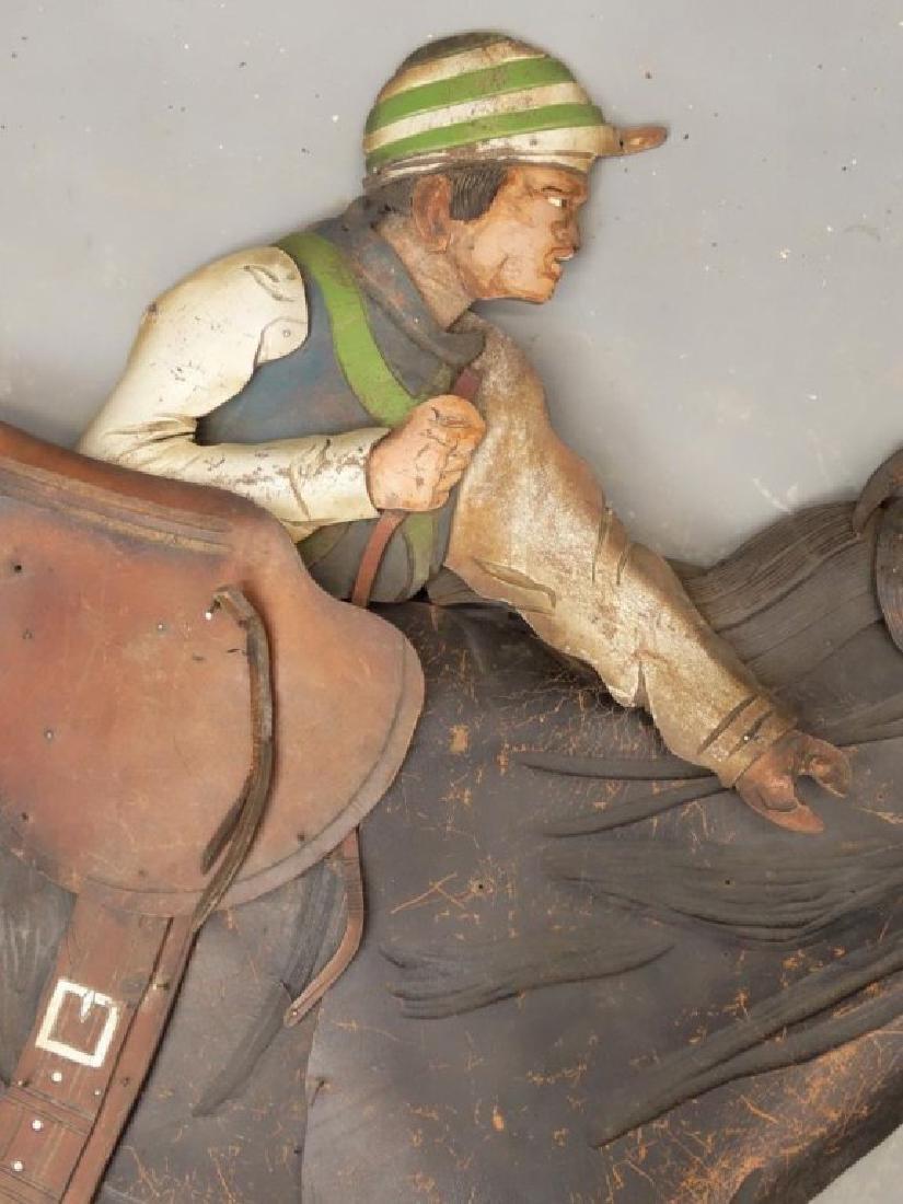 Leather Horse Plaque - 9