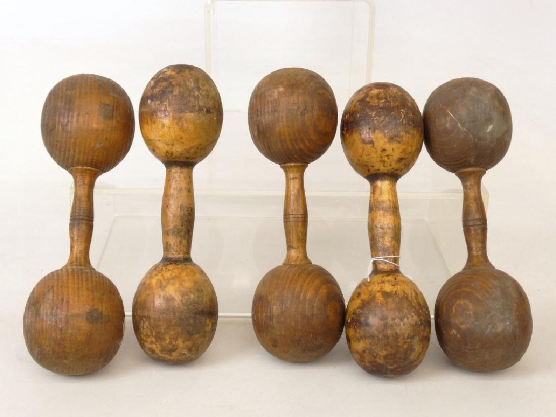 Wooden Dumbbells - 2