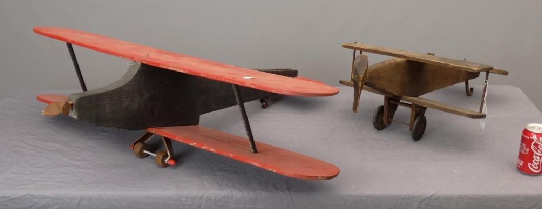 Folk Art Wooden Airplanes