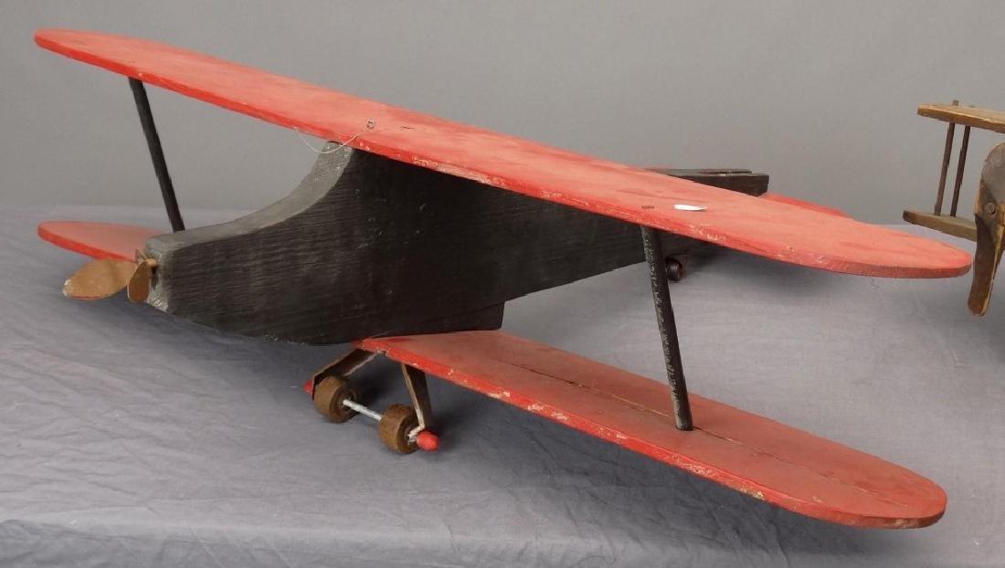 Folk Art Wooden Airplanes - 2