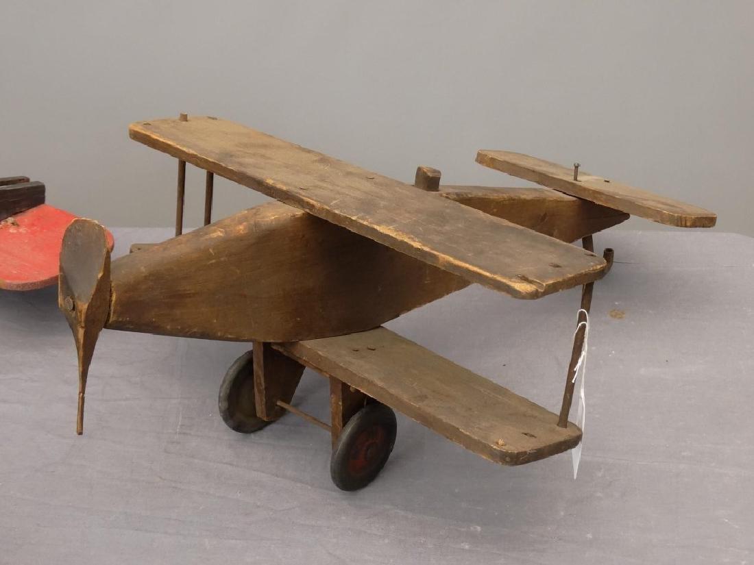 Folk Art Wooden Airplanes - 3
