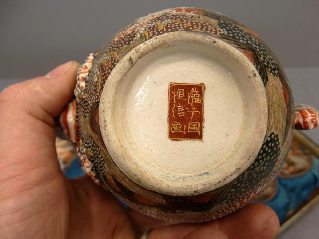 19th c. Boxed Asian Tea Set - 3