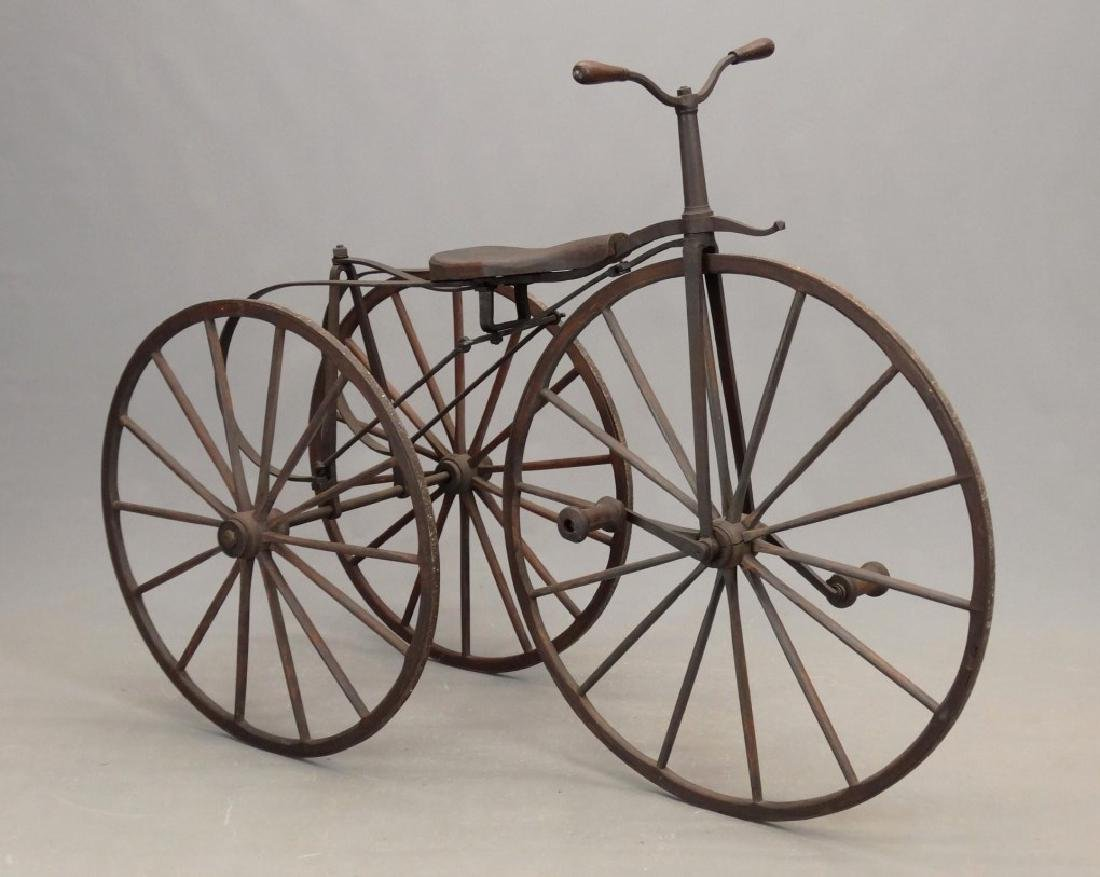 19th c. Boneshaker Tricycle