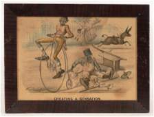 Currier & Ives Bicycle Print