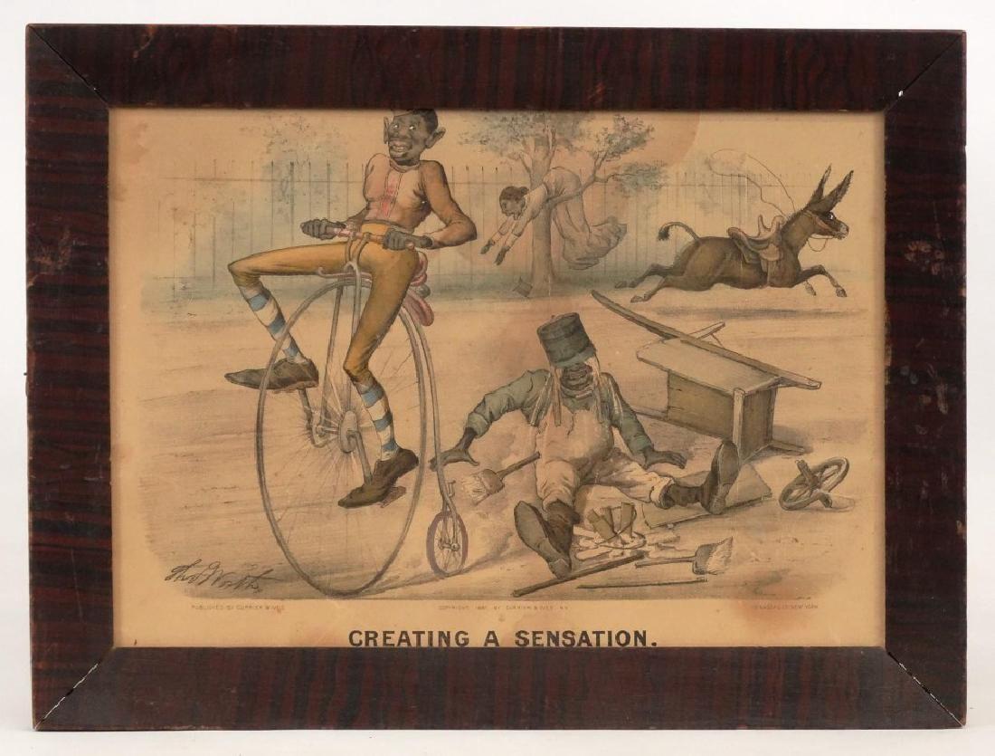 Currier & Ives Bicycle Print