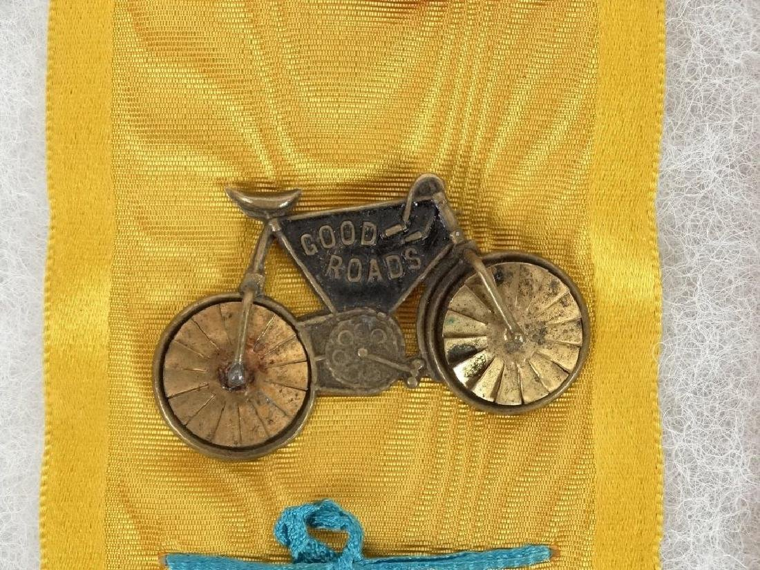 1896 McKinley Bicycle Campaign Club Ribbons - 3