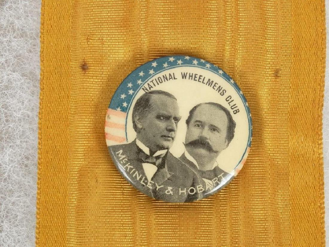 1896 McKinley Bicycle Campaign Club Ribbons - 4
