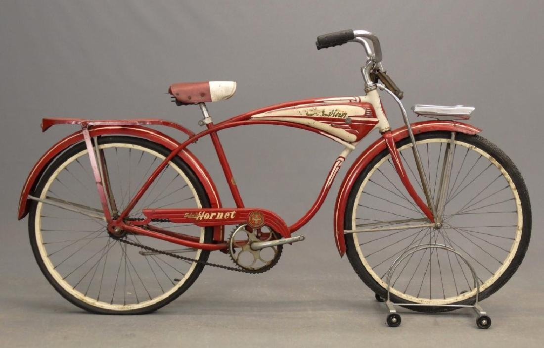"C. 1953 Schwinn Hornet 26"" Tank Bicycle"