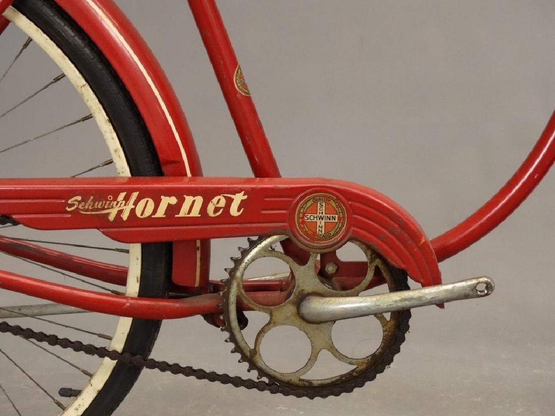 "C. 1953 Schwinn Hornet 26"" Tank Bicycle - 7"