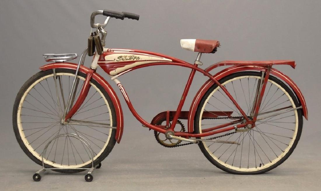 "C. 1953 Schwinn Hornet 26"" Tank Bicycle - 9"