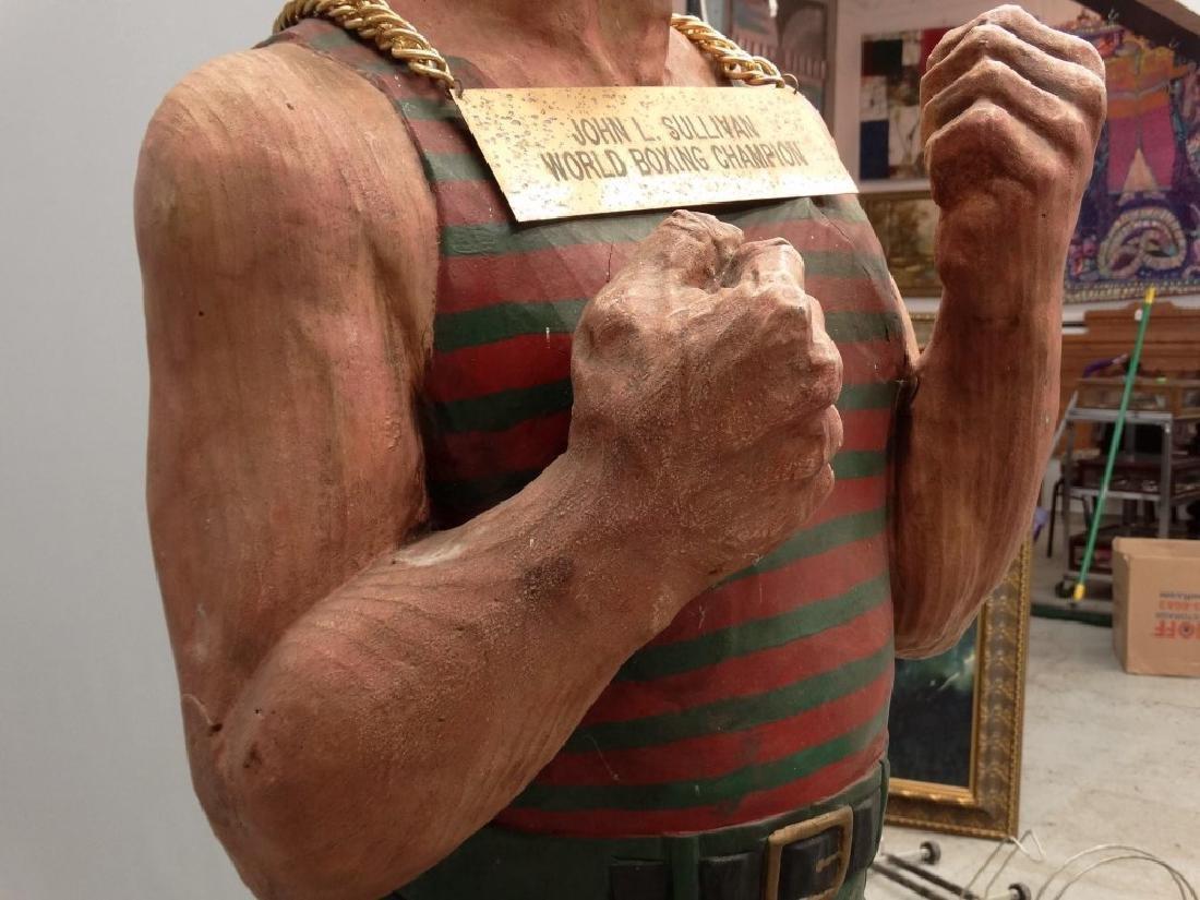 John L. Sullivan Wooden Statue - 10