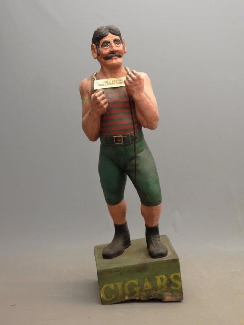 John L. Sullivan Wooden Statue - 2