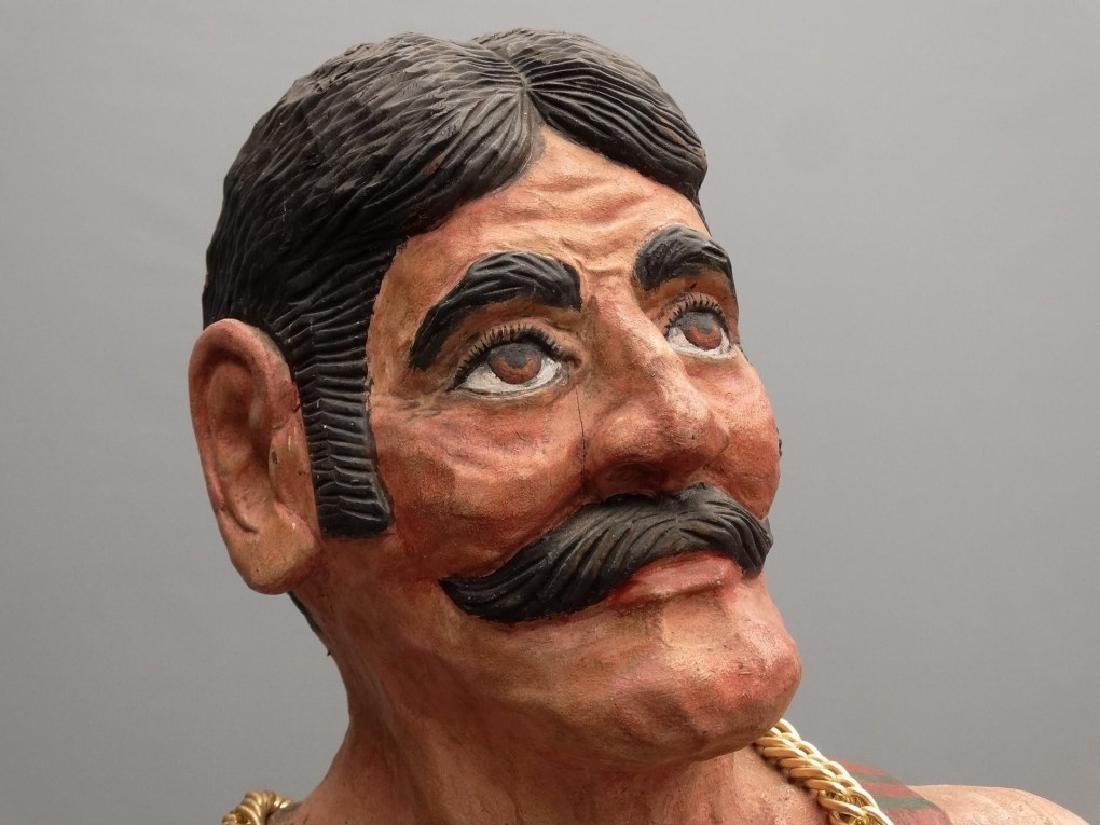 John L. Sullivan Wooden Statue - 3