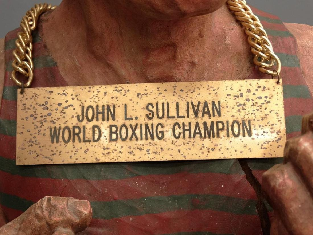 John L. Sullivan Wooden Statue - 4