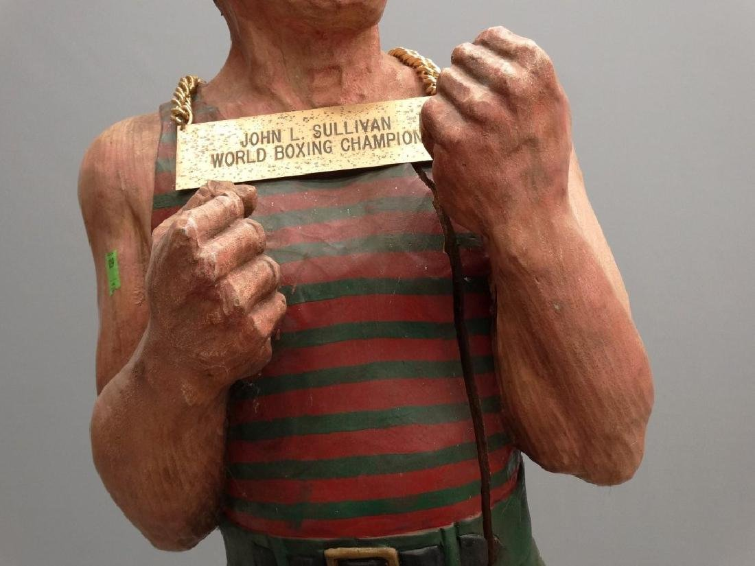 John L. Sullivan Wooden Statue - 5
