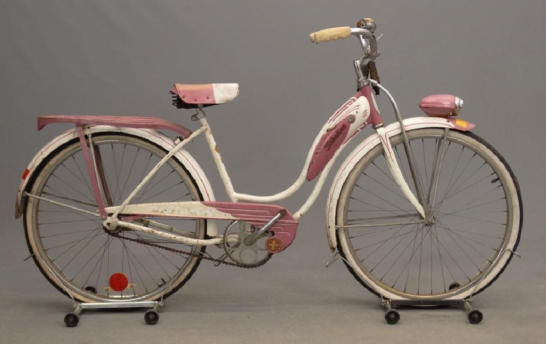 """1955 Schwinn Starlet 26"""" Ladies Tank Bicycle"""