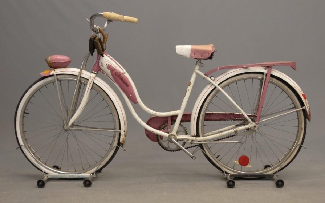 """1955 Schwinn Starlet 26"""" Ladies Tank Bicycle - 9"""