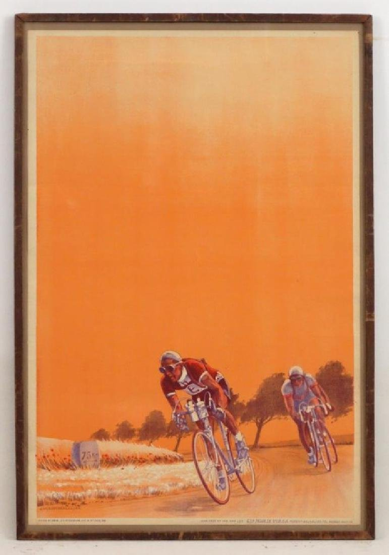 1944 Bicycle Racing Lithograph