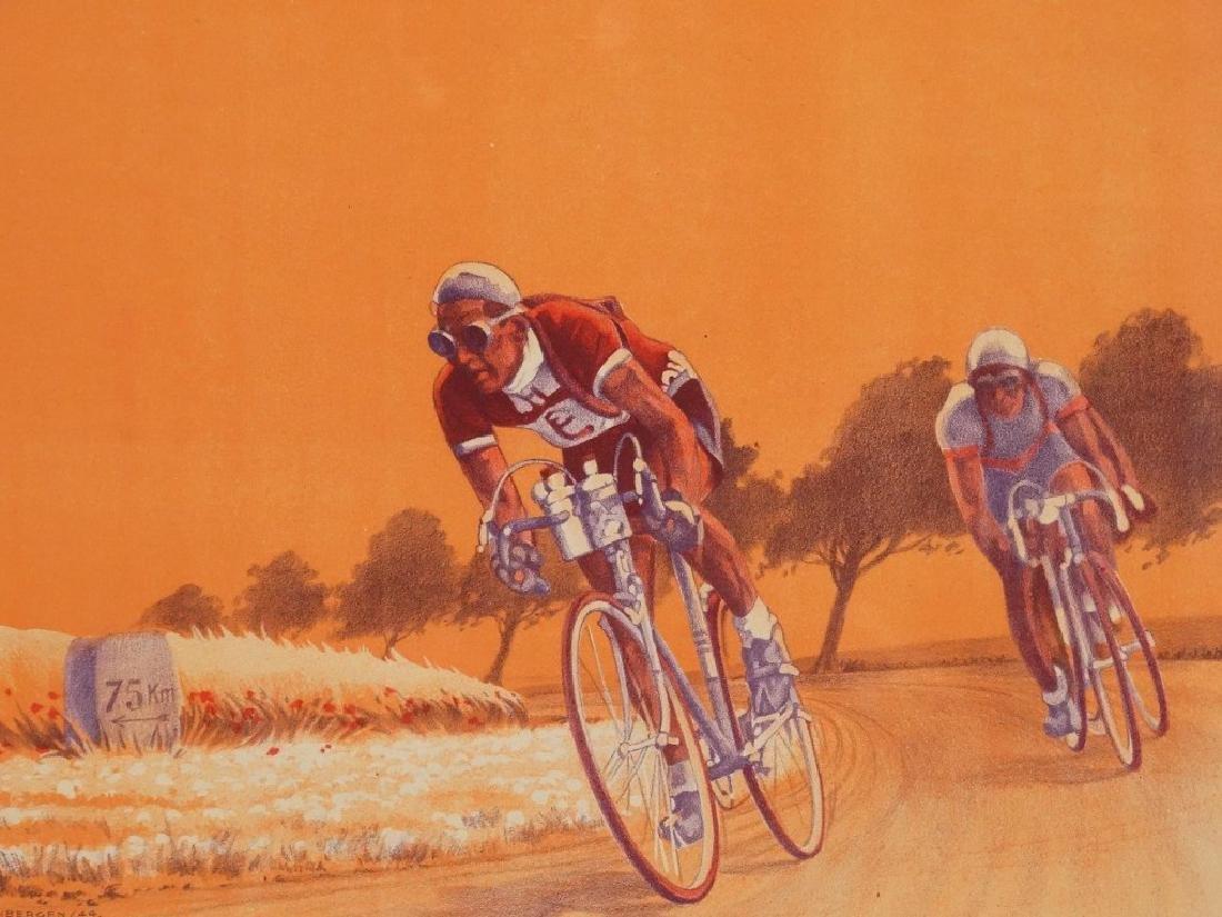 1944 Bicycle Racing Lithograph - 2