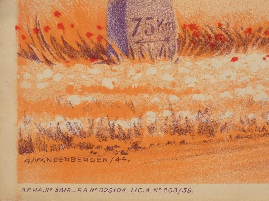 1944 Bicycle Racing Lithograph - 3