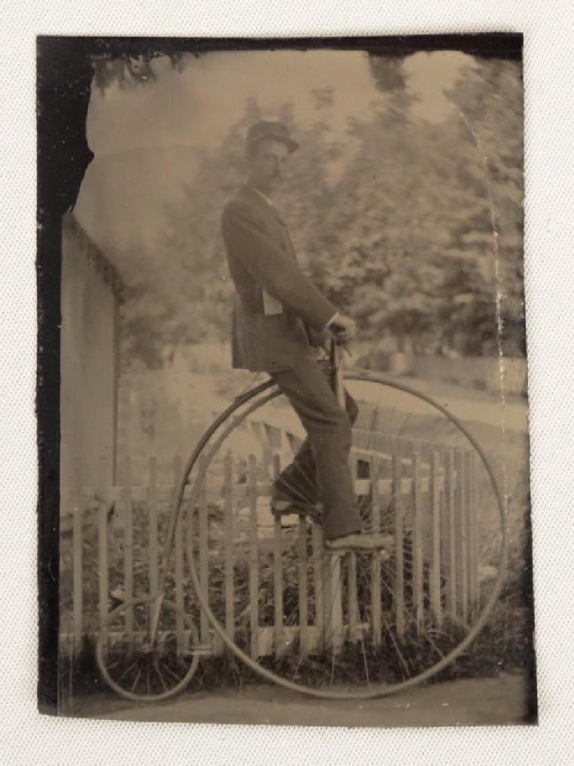 Tintype With High Wheel Rider