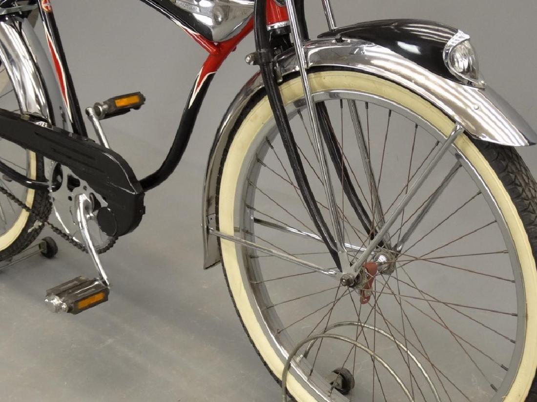 C. 1950's Schwinn Black Phantom Bicycle - 6