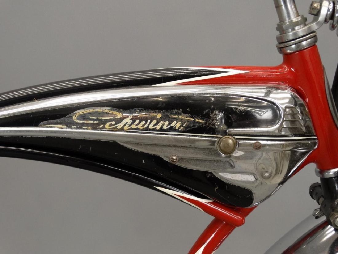 C. 1950's Schwinn Black Phantom Bicycle - 9