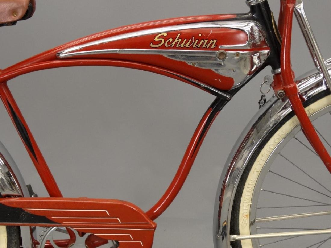 C. 1950's Schwinn Black Phantom Bicycle - 9