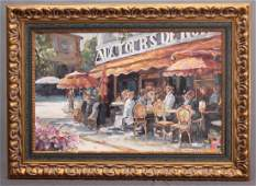 Painting French Cafe