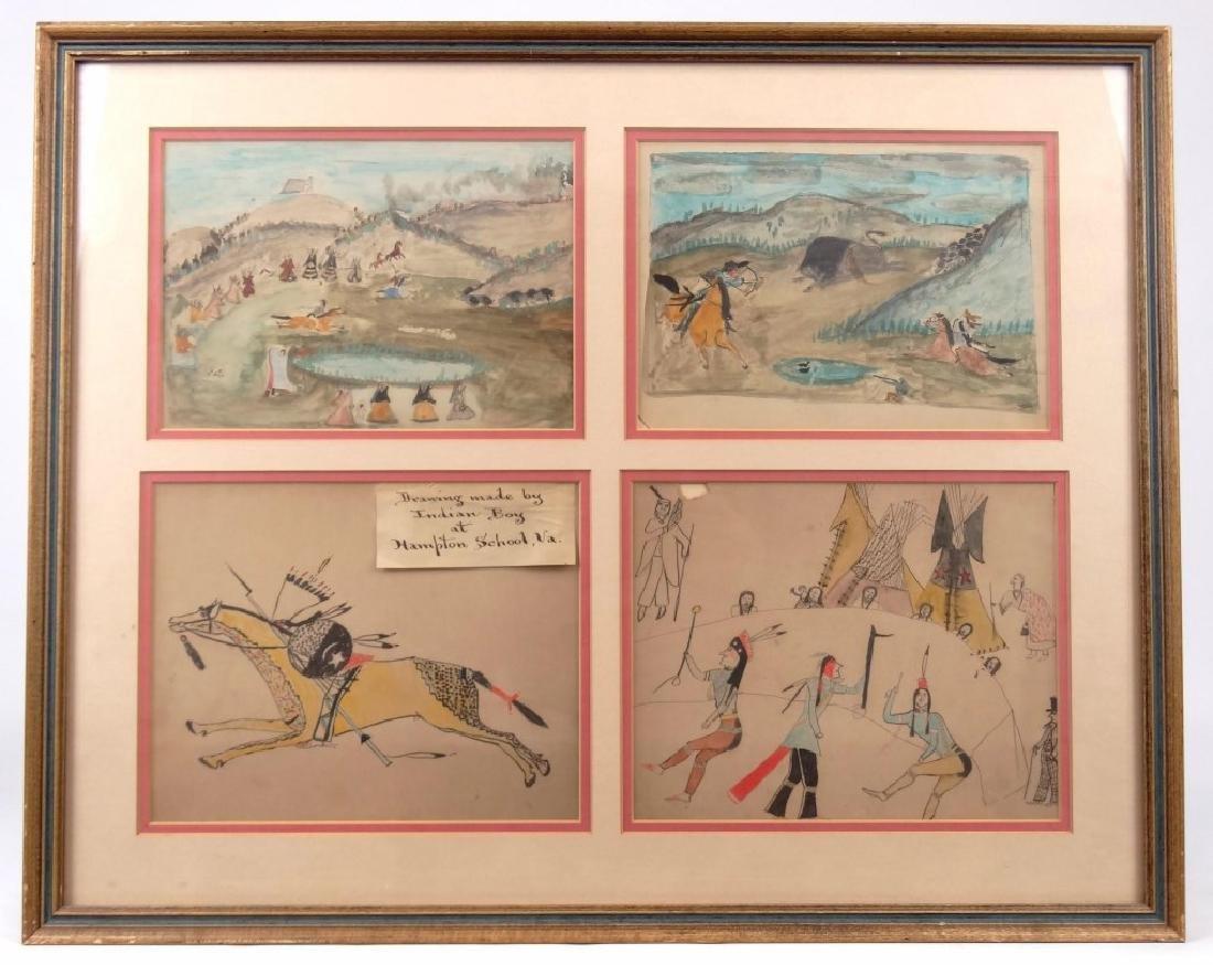 Native American Ledger Drawings